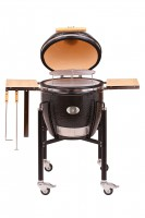 Керамический гриль Monolith Grill Classic L (большой) black (черный) комплект