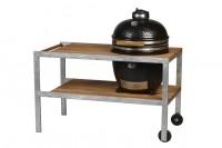 Керамический гриль Monolith Grill Classic L black (черный) со столом