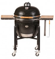 Керамический гриль Monolith Grill Le Chef XL (очень большой) black (черный) комплект