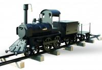 Профессиональный гриль - коптильня Smoky Fun Grill Train (поезд на рельсах с вагоном для дров или угля)